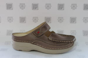 Roll-Slipper taupe